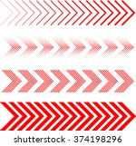 sideways Set . Linear signs collection. Arrow Design .four elements for your design.Striped direction. vector illustration | Shutterstock vector #374198296