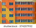 Windows On Colorful Building