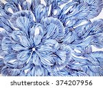 abstract flower floral pattern... | Shutterstock . vector #374207956