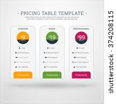 design template for pricing... | Shutterstock .eps vector #374208115