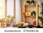 balanced diet  cooking ... | Shutterstock . vector #374208136