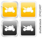 square icon motorcycle. vector... | Shutterstock .eps vector #37421407