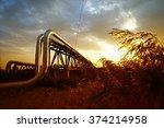 oil pipeline  the oil industry... | Shutterstock . vector #374214958