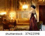 Beautiful Lady In A Luxury...