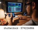closeup of serious young...   Shutterstock . vector #374226886