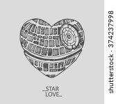 sketch illustration of a love... | Shutterstock .eps vector #374237998