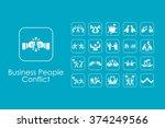 set of business people conflict ...   Shutterstock .eps vector #374249566