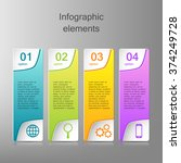 colorful infographics template... | Shutterstock .eps vector #374249728