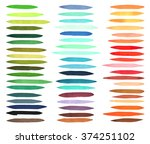 color stripes brushes drawn... | Shutterstock .eps vector #374251102
