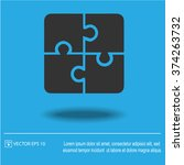 puzzle vector icon. creative... | Shutterstock .eps vector #374263732