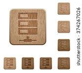 set of carved wooden data...
