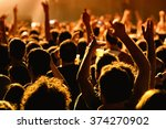 barcelona   may 16  crowd in a... | Shutterstock . vector #374270902