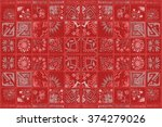 tiled background with oriental... | Shutterstock . vector #374279026