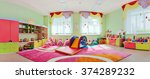 a large game room in the... | Shutterstock . vector #374289232
