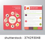 brochure flyer design vector... | Shutterstock .eps vector #374293048