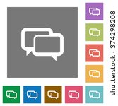 chat bubbles flat icon set on...