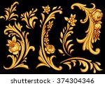 decorative elements with roses 3 | Shutterstock . vector #374304346