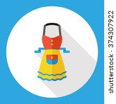 kitchenware apron flat icon | Shutterstock .eps vector #374307922