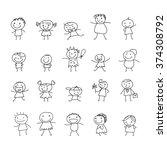 cartoon people  vector | Shutterstock .eps vector #374308792