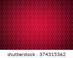 minimalistic red poker...   Shutterstock .eps vector #374315362