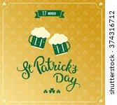 beer  clovers and original... | Shutterstock .eps vector #374316712
