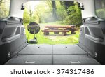 interior of open car trunk and... | Shutterstock . vector #374317486