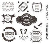 black retro vintage insignias... | Shutterstock .eps vector #374324932