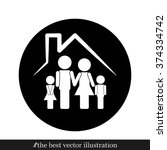 family house icon vector... | Shutterstock .eps vector #374334742