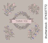 hand drawn vector set of... | Shutterstock .eps vector #374337772