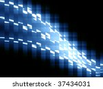 abstract lines with pattern on... | Shutterstock . vector #37434031