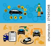 car part set of repair icon... | Shutterstock .eps vector #374341048
