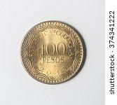 hundred pesos colombia | Shutterstock . vector #374341222