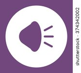 sound icon vector flat design