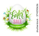 easter sale background with... | Shutterstock .eps vector #374350636