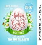 Easter Egg Hunt  Poster. Vecto...