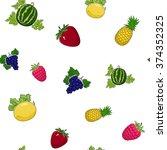 seamless pattern of fresh sweet ...   Shutterstock .eps vector #374352325