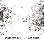 wireframe mesh polygonal... | Shutterstock .eps vector #374355886
