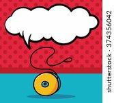 yo yo doodle  speech bubble | Shutterstock .eps vector #374356042