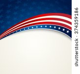 american flag  vector patriotic ... | Shutterstock .eps vector #374359186