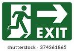 signpost  leave  enter or pass...   Shutterstock .eps vector #374361865