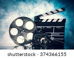 retro film production... | Shutterstock . vector #374366155