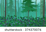 forest landscape with... | Shutterstock .eps vector #374370076