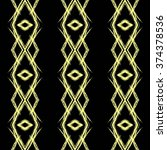 ikat pattern yellow and black.  | Shutterstock .eps vector #374378536