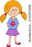 cartoon vector illustration of... | Shutterstock .eps vector #374392408