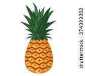 vector illustration of pineapple | Shutterstock .eps vector #374393302