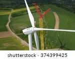 wind turbine construction.... | Shutterstock . vector #374399425