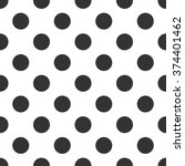 black and white polka dot... | Shutterstock .eps vector #374401462