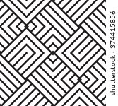 black and white geometric... | Shutterstock .eps vector #374415856