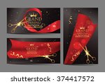 set of grand opening banners... | Shutterstock .eps vector #374417572