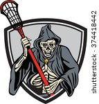 illustration of the grim reaper ... | Shutterstock .eps vector #374418442